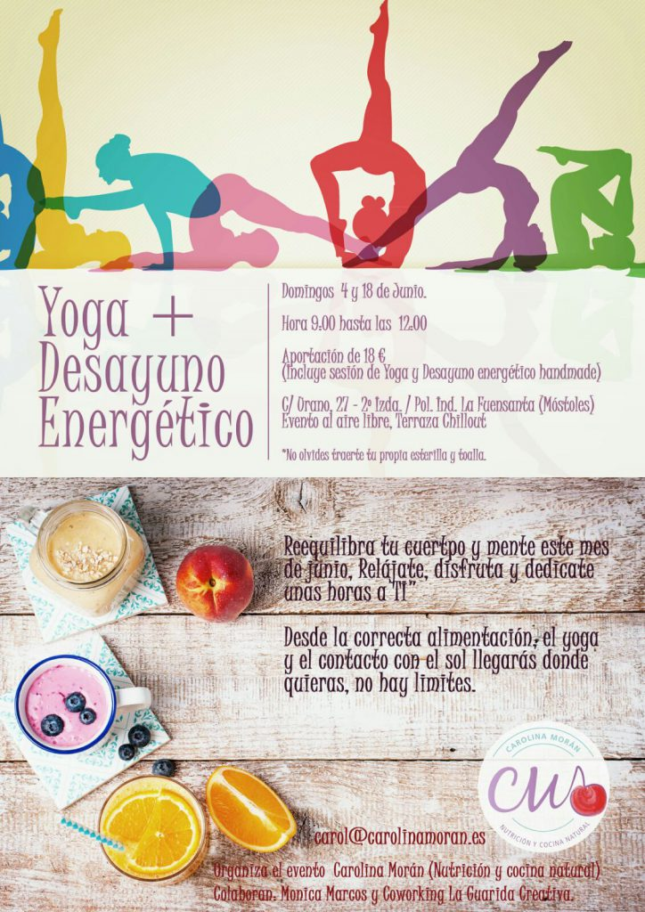 clases de yoga y desayuno energetico